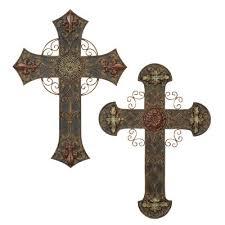 crosses wall decor design toscano the veneration crosses angel of peace cross