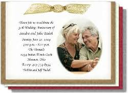 50th wedding invitations exles of 50th wedding anniversary invitations the wedding