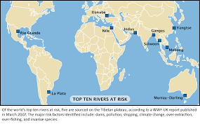 world rivers map water politics the thirsty tibetan rivers at risk and