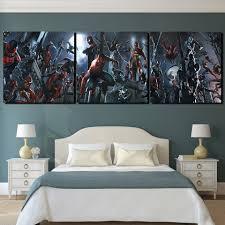 aliexpress com buy 3 pieces spiderman night movie wall art