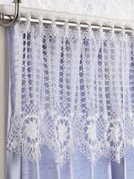 Crochet Kitchen Curtains by Free Crochet Curtain Patterns On Moogly Crochet Pinterest