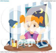 homework design studio royalty free rf clipart illustration of a happy school girl doing