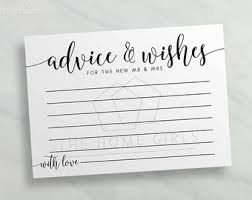 Advice Cards For Bride Newlyweds Advice
