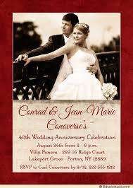 40th anniversary invitations 40th anniversary party invitation wedding photo ruby