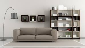 Shelves For Living Room Extraordinary Wall Shelves Design With Trendy Glass Shelf Door