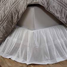 White Ruffle Bed Skirt Antique Style White Lace Bed Skirt Antique Farmhouse