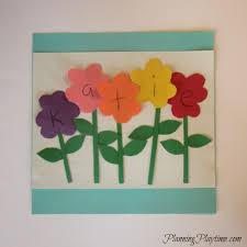5 adorable preschool name crafts flowers craft and spring