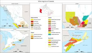 canadian map canada map of vineyards wine regions
