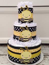 designer bumble bee baby shower diaper cake bee theme baby shower