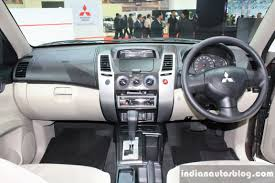 mitsubishi sport interior mitsubishi pajero sport at 2014 bangkok motor show interiors