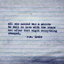 Love And Stars Quotes by All She Needed Was A Minute To Fall In Love With The Stars