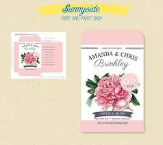 wedding seed packets printable pink peony seed packet favor diy bridal shower