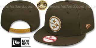steelers team basic snapback brown wheat hat by new era at hatlan