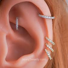 cartilage hoops conch piercing hoops on the hunt