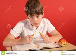 Kid At Desk by Angry Young Boy Breaking Penci Royalty Free Stock Image Image
