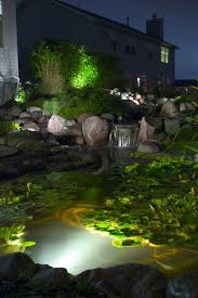 Submersible Pond Lights Pond U0026 Water Garden Lighting Create Magic At Night Aquascape
