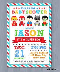marvel baby shower amazing baby shower invitations 7865