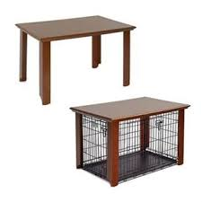 diy disguised dog cage custom built table to fit over pet