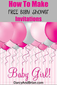 how to create free baby shower invitations