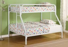 white metal bunk beds twin over full take advantage metal bunk