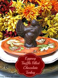 eggnog truffle filled chocolate turkey