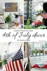 simple 4th of july decor a blue nest
