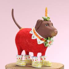 patience brewster mini lola chocolate lab ornament