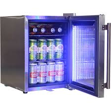 glass door small refrigerator stainless steel mini bar fridge with led strip light and lock
