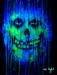 vintage halloween lights black light painting blacklight black light pinterest
