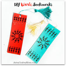 Warli Art Simple Designs Diy Warli Bookmarks For Kids