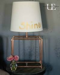 Copper Table Lamp Diy Copper Table Lamp And Led Power Light Unexpected Elegance