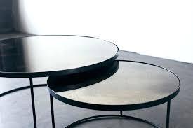 glass nesting coffee tables glass nesting tables glass nesting side tables black glass top