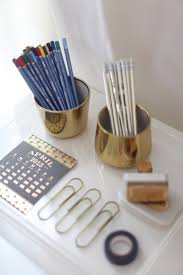 Wicker Desk Accessories by Best 25 Gold Desk Accessories Ideas On Pinterest Gold Office