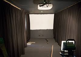 Curtains On The Wall Home Theater Room Phase Ii Wall Curtains Projector Screen