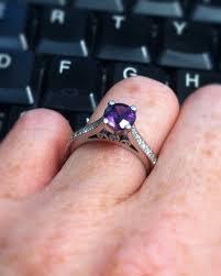 amethyst engagement rings amethyst engagement ring custom by rosados box on etsy