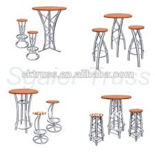 Aluminium Bar Table Aluminium Truss Bar Table And Stools High Tables And Bar Stools