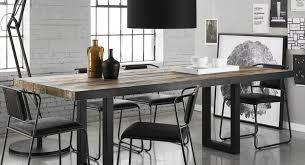 cuisine bois et metal table bois et metal console en bois et mtal avec tiroir l cm donna
