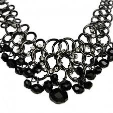 chunky fashion necklace images Chunky chain fashion black bead necklace buy bold statement jewellery jpg