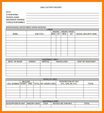 daily activity report template 8 daily activity report format target cashier
