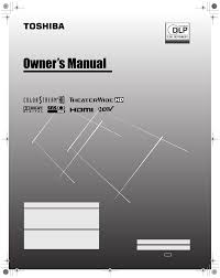 toshiba projection television 65hm167 user guide manualsonline com