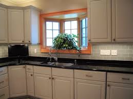glass tile kitchen backsplash design with ceiling design also