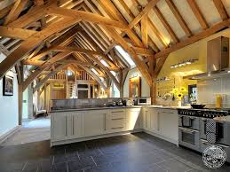 15 barn home ideas for restoration and new construction view in gallery barn style home green oak conversion kitchen jpg