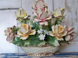 capodimonte roses collectible italian capodimonte porcelain basket of roses