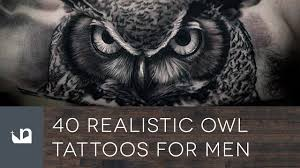 tattoo pictures of owls 40 realistic owl tattoos for men youtube