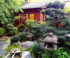 Japan Rock Garden by Meandering Paths Stone Lantern Water Basin Koi Pond Rocks