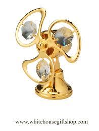 ornament gold classic electric fan ornament or desk model blades