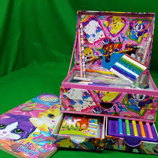 Paperpanda Vintage Lisa Frank Stationary Stickers Box Pencils Paper Panda