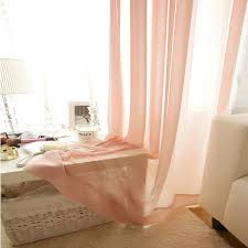 Sheer Coral Curtains Coral Pink Sheer Plain Curtain Voile Panel