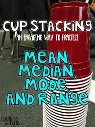 cup stacking mean median mode and range includes a free