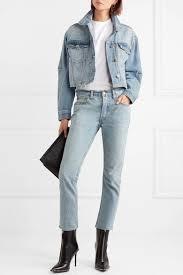 light blue cropped jean jacket current elliott women s the collin cropped denim jacket light blue